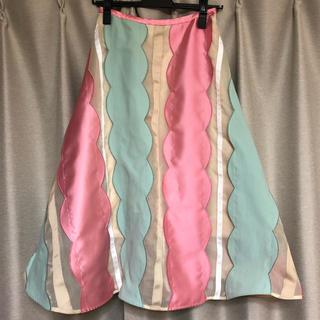チェスティ(Chesty)のChesty スカラップスカート 0(ひざ丈スカート)