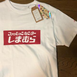 しまむら - 値下げ可!しまむら ボックスロゴ Tシャツ 昼 バックプリント ラスト一点!M