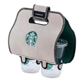 Starbucks Coffee - スターバックス スタバ エコバッグ ドリンクホルダー タンブラーケース 台湾