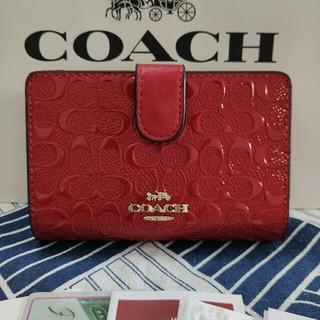 COACH - COACH 二つ折りミニ財布新品未使用 F25937