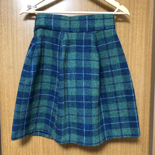 Vivienne Westwood(ヴィヴィアンウエストウッド)のハリスツイード クリニスキュールスカート レディースのスカート(ミニスカート)の商品写真