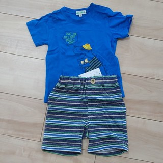 サンカンシオン(3can4on)の【90センチ】3can4onシャツ&ハーフパンツセット(Tシャツ/カットソー)