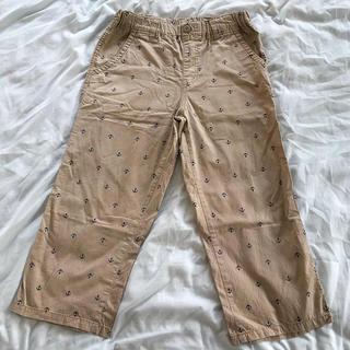 GU - GU キッズ 七部丈綿パンツ 150