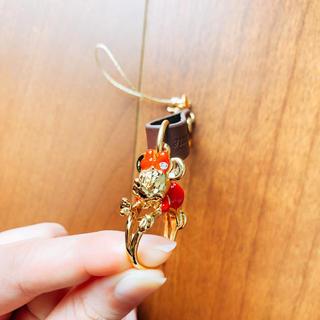 ミニーマウス(ミニーマウス)のミニーちゃんのリングキーホルダー(キャラクターグッズ)