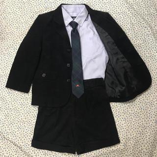 familiar - ファミリア フォーマル スーツ 上下 シャツ ネクタイ 4点セット 七五三