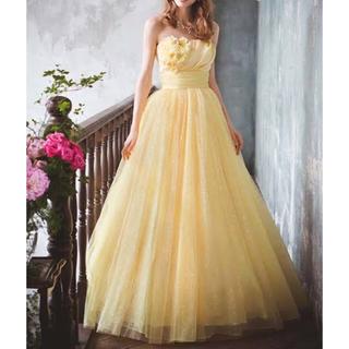 エメ(AIMER)のAimer エメ イエロードレス ウェデングドレス  ステージドレス(ウェディングドレス)