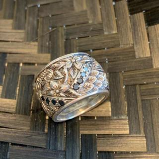 スティーブンデュエック シルバーリング 彫刻(リング(指輪))
