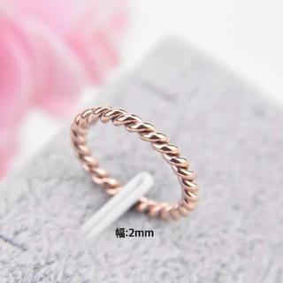 ロープワイヤーリング ステンレスリング ステンレス指輪 ピンキーリング(リング(指輪))