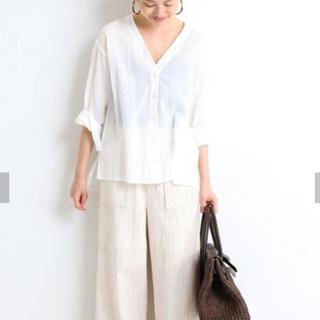 IENA SLOBE - 【完売品/未使用】IENA SLOBE/コットンワッシャーシャツ