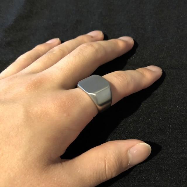 印台リング カレッジリング us12号  メンズのアクセサリー(リング(指輪))の商品写真