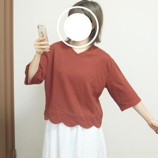 ダブルクローゼット(w closet)のダブルクローゼット / トップス / オレンジ(カットソー(半袖/袖なし))