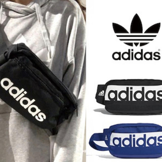 新品 アディダス オリジナルス adidas ショルダー ポーチ バッグ 青