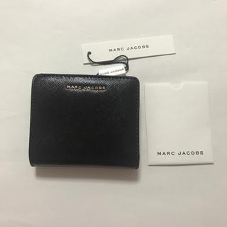 マークジェイコブス(MARC JACOBS)の新品 マークジェイコブス 二つ折り ブラック ミニ財布(財布)