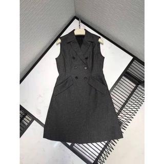 ディオール(Dior)の【ディオール】ウールツイード ドレス* ワンピース ブラック(ひざ丈ワンピース)