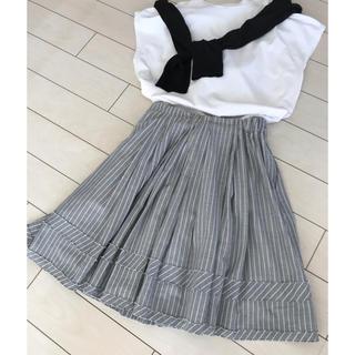 マーキュリーデュオ(MERCURYDUO)のMERCURYDUO✨薄い綿ストライプスカート(ミニスカート)