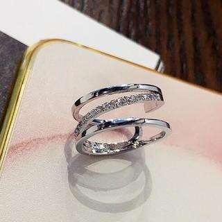 ☞金属アレ対応9号~19号♥ジルコニア※フリーサイズリング★指輪ホワイトゴ-ルド(リング(指輪))