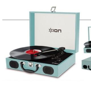 最終値下げion vinyl transportレコードプレーヤーティールブルー(ターンテーブル)