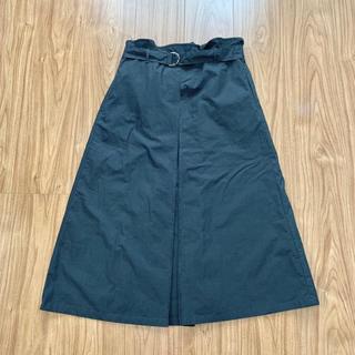 ケービーエフ(KBF)のKBF 2wayミモレ丈スカート(ブラック) ベルト付き(ロングスカート)