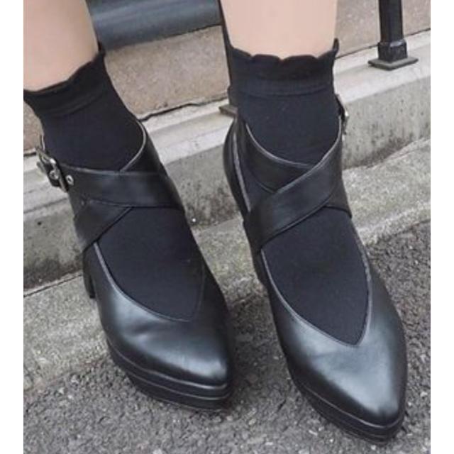 EATME(イートミー)のEATME Vカットクロスパンプス レディースの靴/シューズ(ハイヒール/パンプス)の商品写真