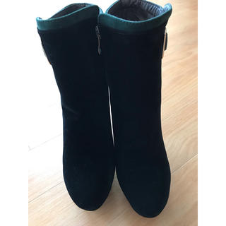 VEROCUCLO黒×グリーンブーツ(ブーツ)