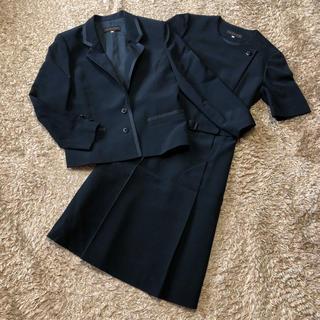 ソワール(SOIR)の《東京ソワール/SOIR》 ワンピース スーツ Mサイズ ブラック 通年使用可(スーツ)