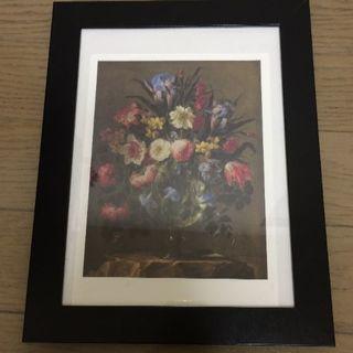 フランフラン(Francfranc)のインテリア 花の絵 フラワー ハンドメイド 絵画 美術館 美品  (アート/写真)