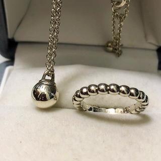 Tiffany & Co. - Tiffanyハードウェアボールネックレス8㎜ボールリング8号