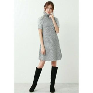 JILL by JILLSTUART - 美品 ジルバイジルスチュアート ふわふわニットワンピース 袖ビジュー
