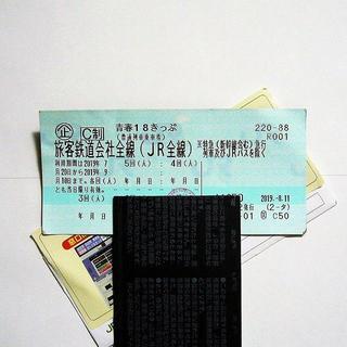 青春18きっぷ    3回分    8/19 早朝に発送!