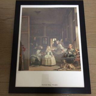 フランフラン(Francfranc)のインテリア プラド美術館「ラス・メニーナ」 ハンドメイド 絵画 美術館 美品 (アート/写真)