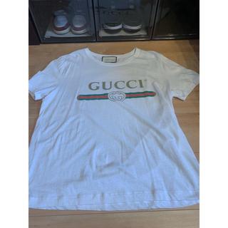 Gucci - グッチ GUCCI ヴィンテージロゴ ウォッシュドTシャツ ホワイト Ssize