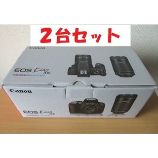 Canon - 値下げ【新品】2台 キヤノン EOS Kiss X9i ダブルズームキット