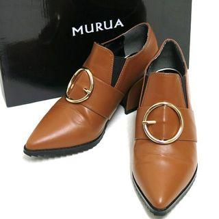 MURUA - MURUA バックルミドルブーティー 定価10,476円 size36 ムルーア
