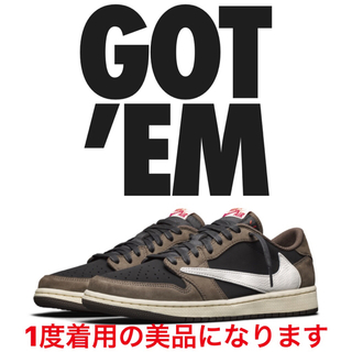 NIKE - 27cm NIKE air jordan1 LOW TRAVIS SCOTT