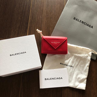 Balenciaga - 定番 新品 希少 バレンシアガ ペーパーミニウォレット ピンク三つ折り財布