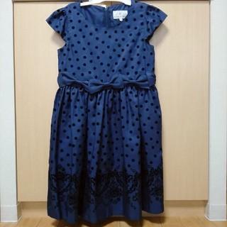 クミキョク(kumikyoku(組曲))の組曲 sizeLL130~140㎝の紺色ワンピース(ドレス/フォーマル)