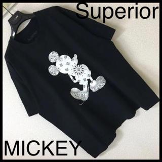 Disney - ◆Superior スペリオール◆ディズニーミッキー バンダナ柄 Tシャツ XL