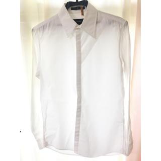 ザトゥエルヴ(THE TWELVE)のTHE TWELVE ザトゥエルブ 美品! デザインシャツ 46 ホワイト(シャツ)