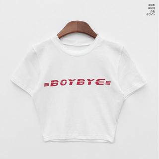 ミックスエックスミックス(mixxmix)のCHUU BOYクロップドハーフスリーブtee(Tシャツ(半袖/袖なし))