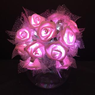 薔薇 バラ ローズ LED ガーランド イルミネーションライト 間接照明 ライト(その他)