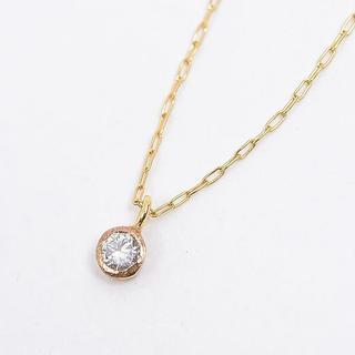 KAORU - KAORU K18 ダイヤモンド一粒ネックレス ラスター