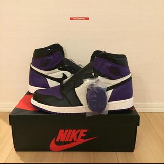 NIKE - 【最安値】NIKE AIR JORDAN 1 Court purple 27.5