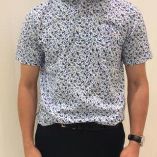 スーツカンパニー(THE SUIT COMPANY)のスーツカンパニー 子花柄 ビズポロ 新品 ブルー(ポロシャツ)