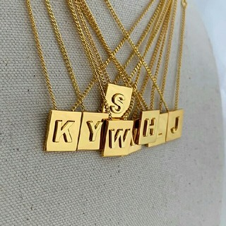 BEAUTY&YOUTH UNITED ARROWS - インポート alphabet gold necklace