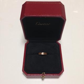 カルティエ(Cartier)のカルティエ♡ミニラブリング ダイヤ入り(リング(指輪))