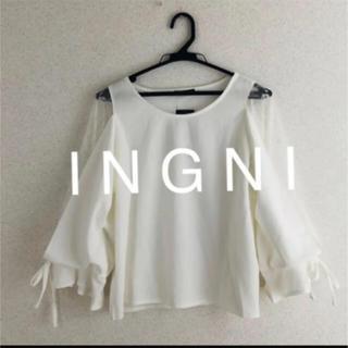 INGNI - 新品★ I N G N Iイング★梨地ポンチ袖割れチュール9分袖