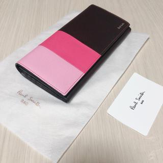 ポールスミス(Paul Smith)のポールスミス 長財布 ブラウン×ピンク(財布)