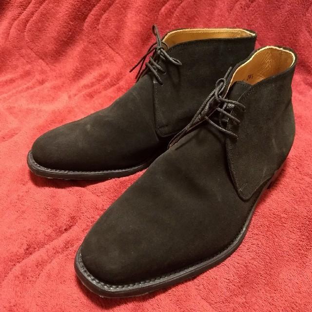 【SCOTCH GRAIN】 スエードチャッカブーツ 24.5cm 黒/g269 メンズの靴/シューズ(ドレス/ビジネス)の商品写真