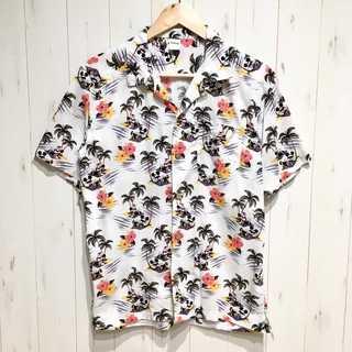 Disney - ディズニー サングラス ミッキー&ミニー 総柄アロハシャツ オープンカラーシャツ