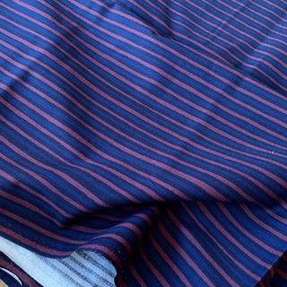 マリメッコ(marimekko)のレア★日本未発売 はぎれ 生地 piccolo 紺色 赤茶 40×70cm 布(生地/糸)